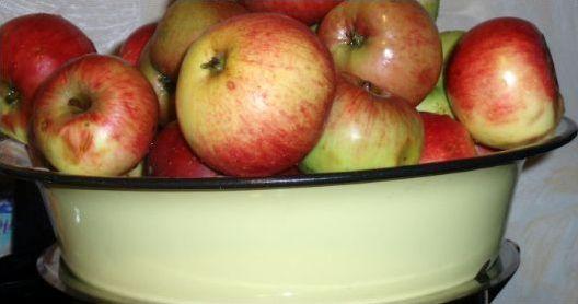 Таз с яблоками